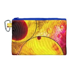 Abstract Water Oil Macro Canvas Cosmetic Bag (large) by Nexatart