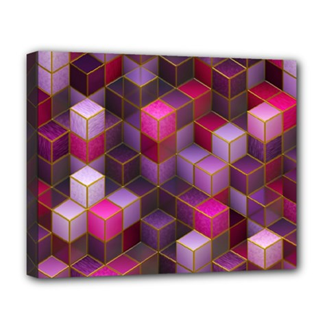 Cube Surface Texture Background Deluxe Canvas 20  X 16
