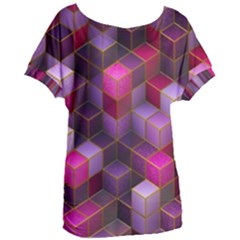Cube Surface Texture Background Women s Oversized Tee