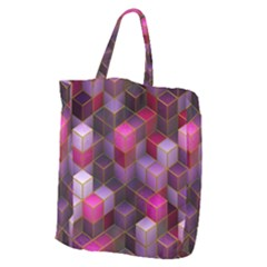 Cube Surface Texture Background Giant Grocery Zipper Tote