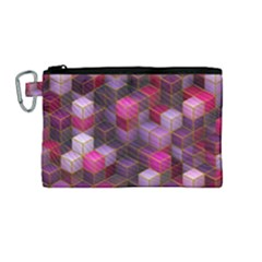 Cube Surface Texture Background Canvas Cosmetic Bag (medium)