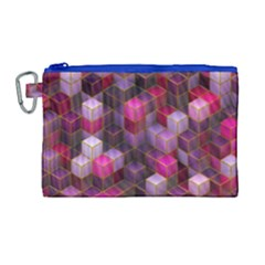 Cube Surface Texture Background Canvas Cosmetic Bag (large)