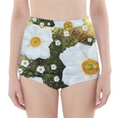Summer Anemone Sylvestris High-waisted Bikini Bottoms by Nexatart
