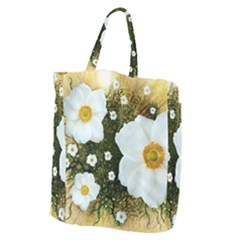 Summer Anemone Sylvestris Giant Grocery Zipper Tote