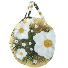 Summer Anemone Sylvestris Giant Round Zipper Tote