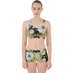 Summer Anemone Sylvestris Work It Out Sports Bra Set by Nexatart