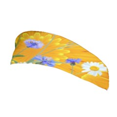 Flowers Daisy Floral Yellow Blue Stretchable Headband