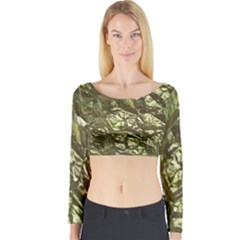 Seamless Repeat Repetitive Long Sleeve Crop Top