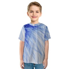 Feather Blue Colored Kids  Sport Mesh Tee