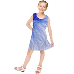 Feather Blue Colored Kids  Tunic Dress