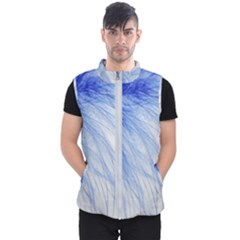 Feather Blue Colored Men s Puffer Vest