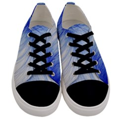 Feather Blue Colored Men s Low Top Canvas Sneakers