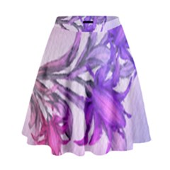 Flowers Flower Purple Flower High Waist Skirt by Nexatart