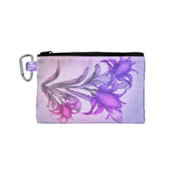 Flowers Flower Purple Flower Canvas Cosmetic Bag (small) by Nexatart