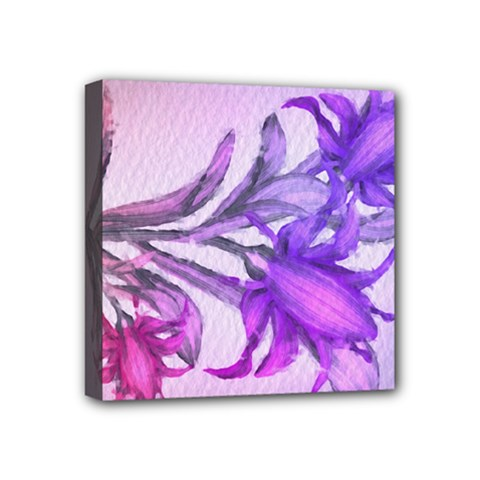 Flowers Flower Purple Flower Mini Canvas 4  X 4