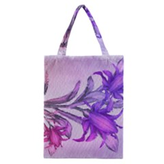 Flowers Flower Purple Flower Classic Tote Bag