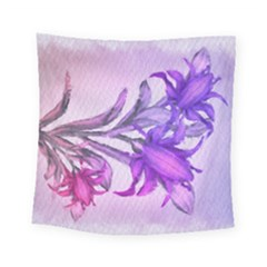 Flowers Flower Purple Flower Square Tapestry (small) by Nexatart