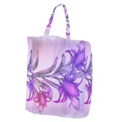 Flowers Flower Purple Flower Giant Grocery Zipper Tote