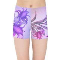 Flowers Flower Purple Flower Kids Sports Shorts