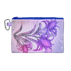 Flowers Flower Purple Flower Canvas Cosmetic Bag (large) by Nexatart