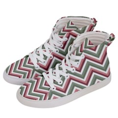 Chevron Blue Pink Men s Hi Top Skate Sneakers by snowwhitegirl