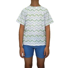Wavy Linear Seamless Pattern Design  Kids  Short Sleeve Swimwear by dflcprints