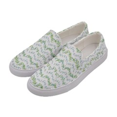 Wavy Linear Seamless Pattern Design  Women s Canvas Slip Ons by dflcprints