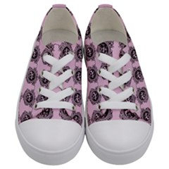 Three Women Pink Kids  Low Top Canvas Sneakers