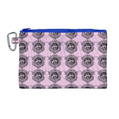 Three Women Pink Canvas Cosmetic Bag (large)