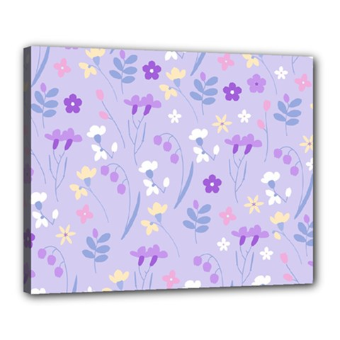 Violet,lavender,cute,floral,pink,purple,pattern,girly,modern,trendy Canvas 20  X 16  by 8fugoso