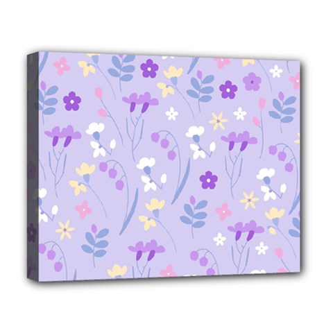 Violet,lavender,cute,floral,pink,purple,pattern,girly,modern,trendy Deluxe Canvas 20  X 16   by 8fugoso