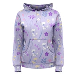 Violet,lavender,cute,floral,pink,purple,pattern,girly,modern,trendy Women s Pullover Hoodie by 8fugoso