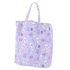 Violet,lavender,cute,floral,pink,purple,pattern,girly,modern,trendy Giant Grocery Zipper Tote by 8fugoso