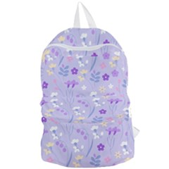Violet,lavender,cute,floral,pink,purple,pattern,girly,modern,trendy Foldable Lightweight Backpack by 8fugoso
