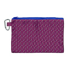 Pink Flowers Magenta Canvas Cosmetic Bag (large) by snowwhitegirl