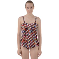 Tp588 Twist Front Tankini Set