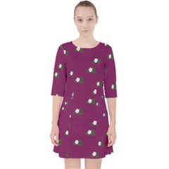 Pink Flowers Magenta Big Pocket Dress by snowwhitegirl