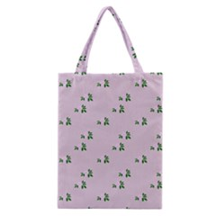 Pink Flowers Pink Big Classic Tote Bag