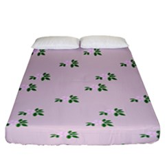 Pink Flowers Pink Big Fitted Sheet (king Size)