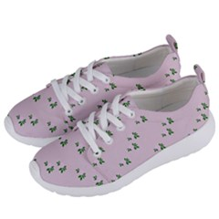 Pink Flowers Pink Big Women s Lightweight Sports Shoes by snowwhitegirl