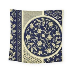 Background Vintage Japanese Square Tapestry (small) by Nexatart