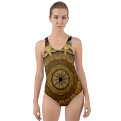Kaleidoscope Dream Illusion Cut-out Back One Piece Swimsuit by Nexatart