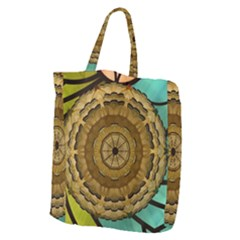Kaleidoscope Dream Illusion Giant Grocery Zipper Tote