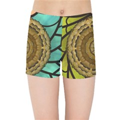 Kaleidoscope Dream Illusion Kids Sports Shorts