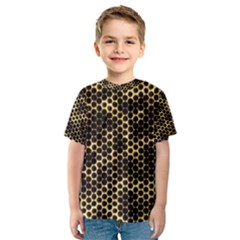 Honeycomb Beehive Nature Kids  Sport Mesh Tee