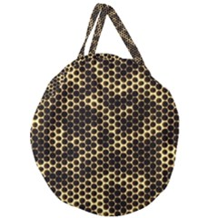 Honeycomb Beehive Nature Giant Round Zipper Tote