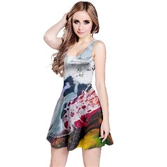 Abstract Art Detail Painting Reversible Sleeveless Dress