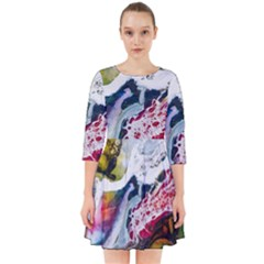 Abstract Art Detail Painting Smock Dress