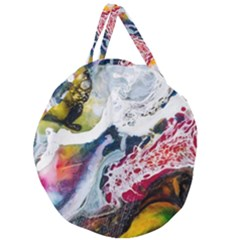 Abstract Art Detail Painting Giant Round Zipper Tote