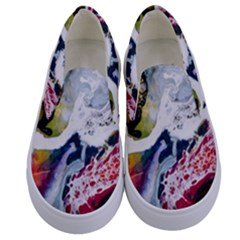 Abstract Art Detail Painting Kids  Canvas Slip Ons